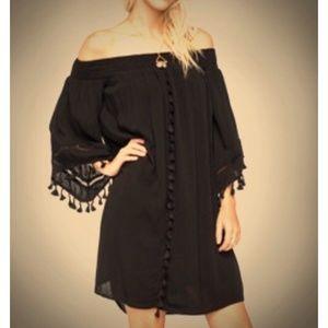 Love Fire Nordstrom Boho Off the Shoulder Dress